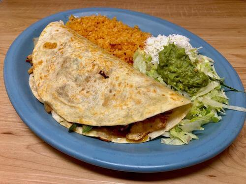 Fajita Quesadilla Dinner (Steak or Chicken)