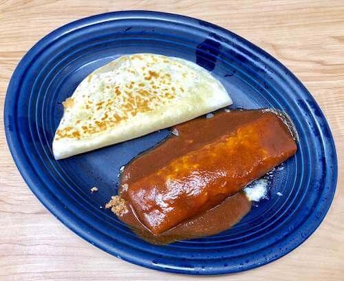 Kids C, Beef, Enchilada & Cheese Quesadilla