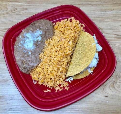 Kids B, Rice, Beans & Taco