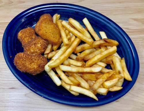 Kids E, Chicken Nuggets & Fries